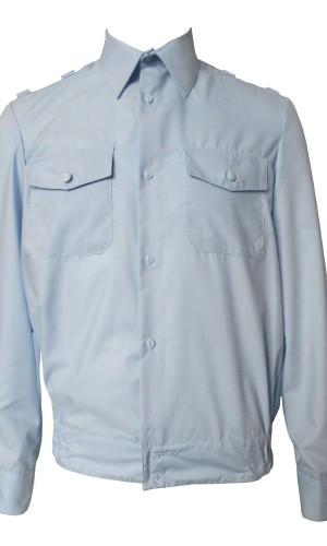 Рубашка полиция длинный рукав голубая