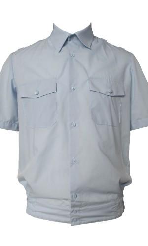 Рубашка полиция короткий рукав голубая