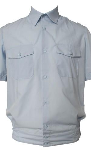 Рубашка полиция короткий рукав голубая ТИСи