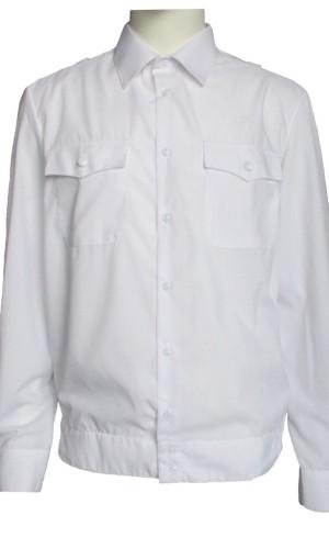 Рубашка полиция длинный рукав белая