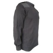 Свитер ПШ с накладками (черный)