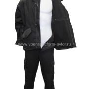 Костюм Горный зима на молнии черный