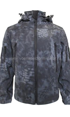 Куртка Софтшелл (питон ночь)