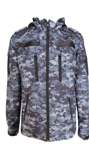 Куртка демисезонная Росгвардия на флисе синяя цифра